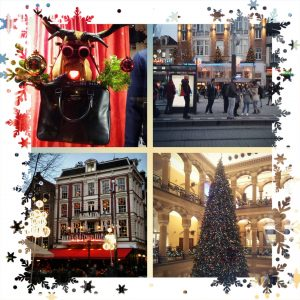 december kerst stad